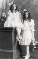 "4 x 6"" Alice Common and her sister Winnifred, who died, as bridesmaids Montreal about 1912"