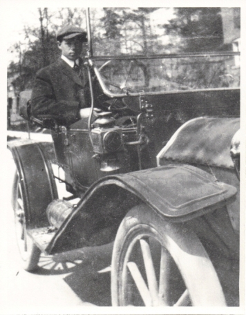3 x 5″ Lloyd in old Oldsmobile – he was always at the wheel of cars