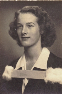 3 x 4.5″ Joanne Ross Fleming – on her graduation Univ. of Toronto About 1943
