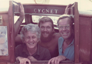 4.5 x 3″ Xmas 1973 Robert J., Patricia, John Carruthers Fleming