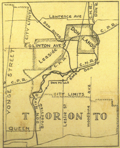 Map of the Donlands, from the Toronto Star Feb 17 1922